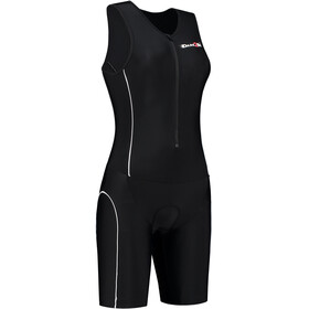 Dare2Tri Frontzip Trisuit Donna, black-white
